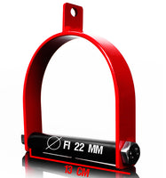 Single Handle Stirrup Gym Cable Attachment (red)