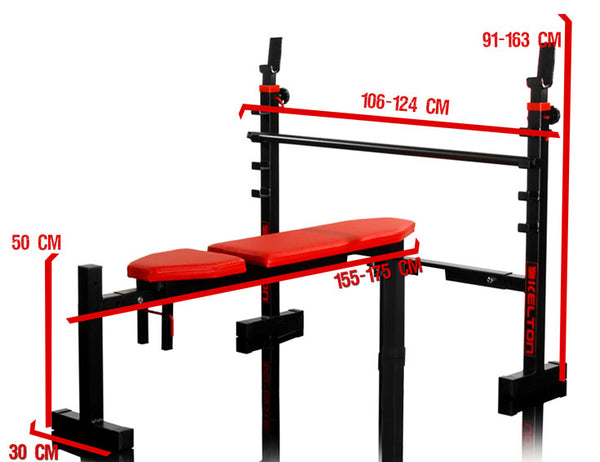 Bench with barbell racks Spartan - Heavy Duty