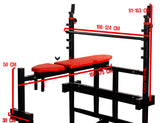 Bench with barbell racks Hyperion - Heavy Duty