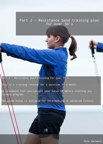 Part 2 - Resistance band training plan for over 50's Plan Download Ebook PDF