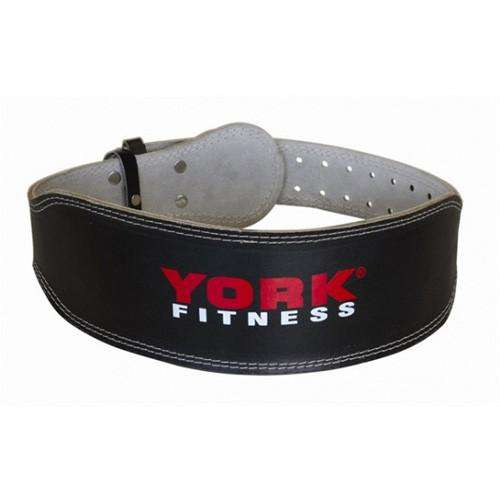 York Heavy Duty Weight lifting Belt Leather Gym Fitness - Fitness Health