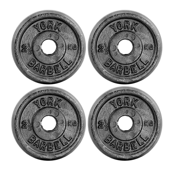 "York Fitness 4 x 2.5kg Standard 1"" Cast Iron Disc Set"