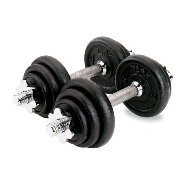 York Fitness Cast Iron Dumbbell Set - 20kg