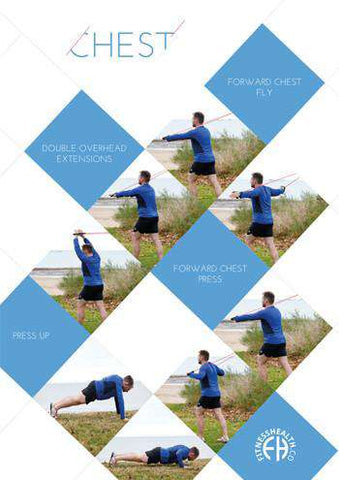 Resistance Band Chest Exercises Poster - Fitness Health