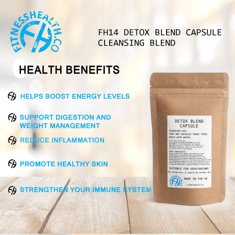 FH14 Detox Blend Capsule Cleansing Blend - Flushes Out Toxins and Slows Aging
