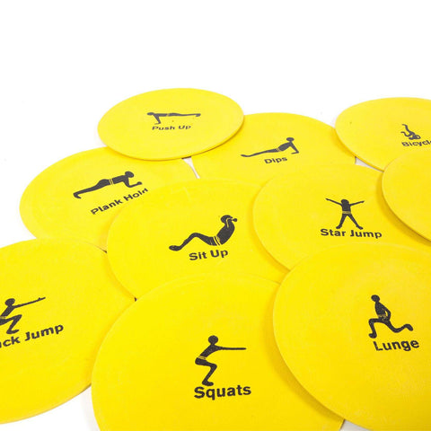 Flat Disc Exercise Workout Non Slip Circuit Training Set