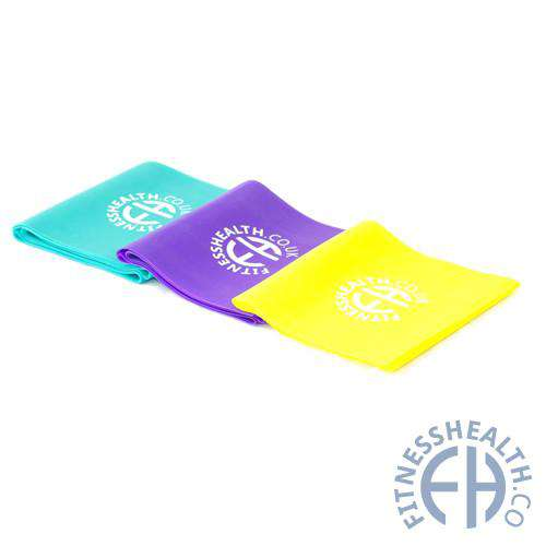 FH Resistance Band Exercise Flat Yoga Bands - Fitness Health
