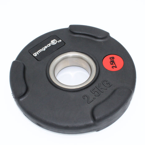 Rubber Tri Grip Gym Gear Olympic Plate 2.5kg (Single Plate) Commercial Grade