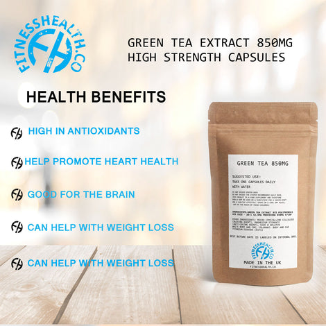 Green Tea Extract 850 mg High Strength Capsules Easy to Swallow