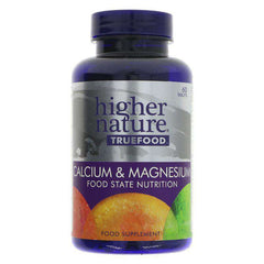 Higher Nature True Food Calcium & Magnesium x 60 Capsules
