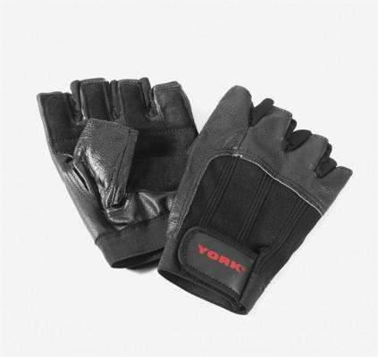 York Weight Training Leather Gloves CrossFit Gym - Fitness Health