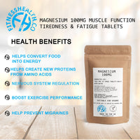 Magnesium 100mg | Muscle Function Tiredness & Fatigue Tablets