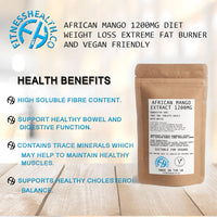African Mango 1200mg Diet Weight Loss Extreme Fat Burner Vegan Friendly