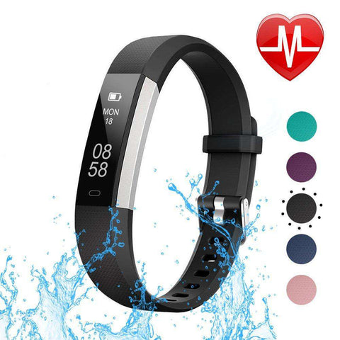 LETSCOM Fitness Tracker with Heart Rate Monitor, Slim Sports Activity Tracker Watch, Waterproof Pedometer Watch with Sleep Monitor