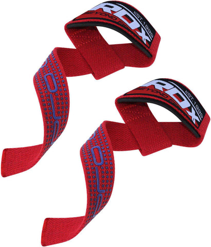 W2 Weightlifting Wrist Lifting Straps  RDX Red