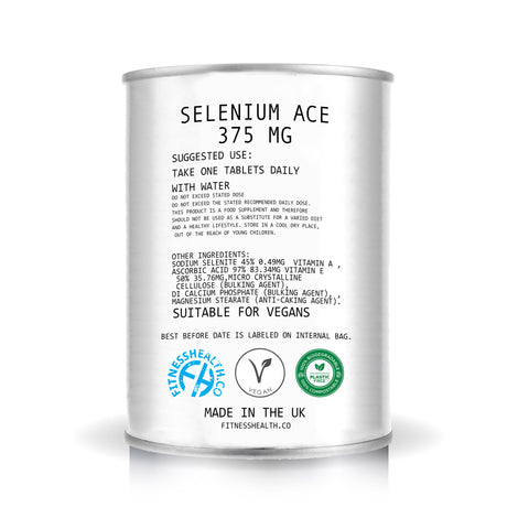 Selenium with Vitamins A-C-E High Quality 60 Tablets Antioxidant in Can