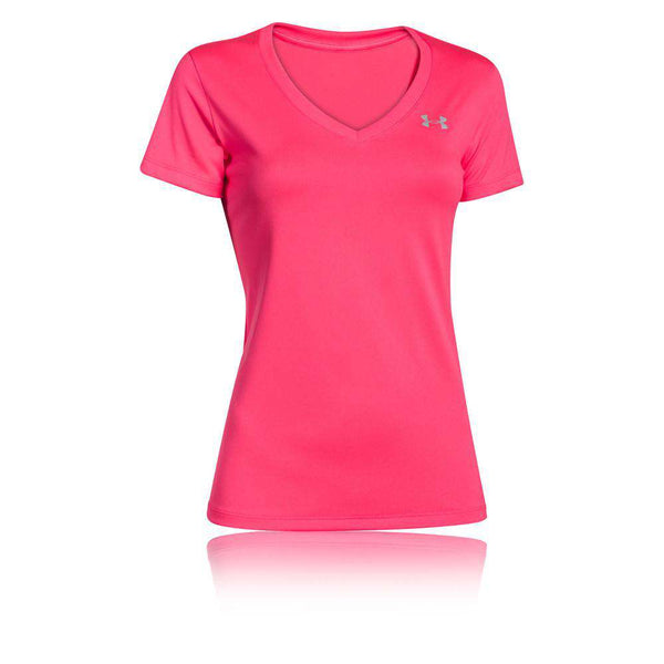 Under Armour Womens Short T Pink UA - Fitness Health