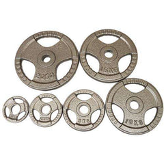 FH Tri-Grip Olympic Weights Weighted Disc Plates Cast Iron