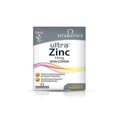 Vitabotics Ultra™ Zinc with Copper - Fitness Health