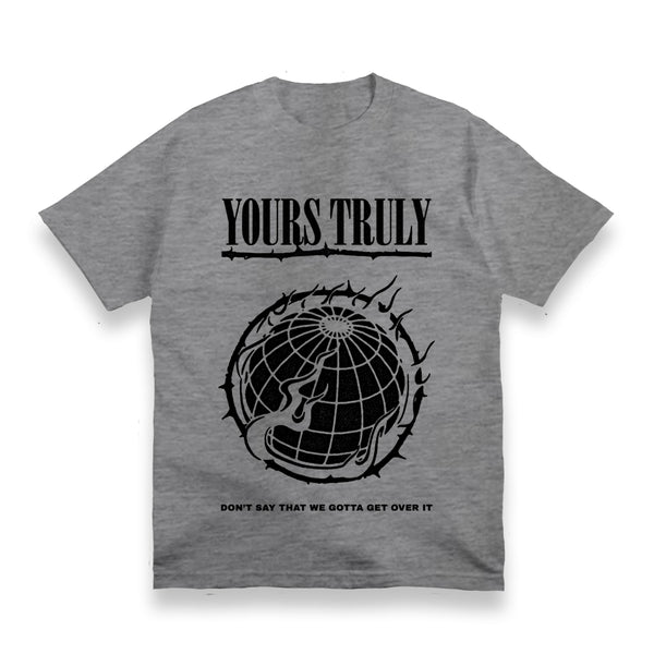 WORLD ON FIRE SPORTS GREY T-SHIRT