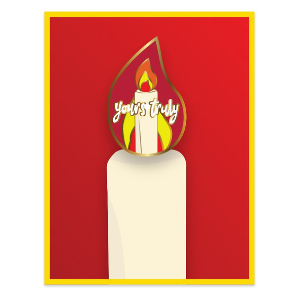 CANDLE ENAMEL PIN BADGE