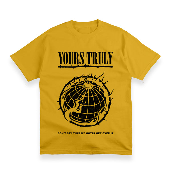 WORLD ON FIRE YELLOW T-SHIRT
