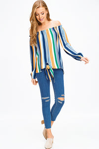 blue-multicolor-striped-off-shoulder-tie