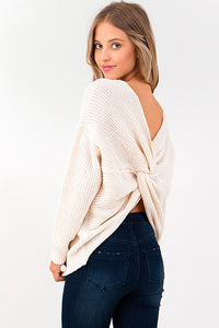 ivory-white-knit-long-sleeve-v-neck-twis