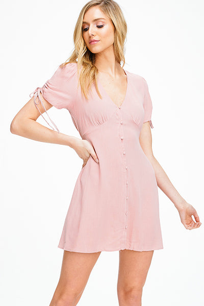 dusty-mauve-pink-ruched-short-sleeve-v-n