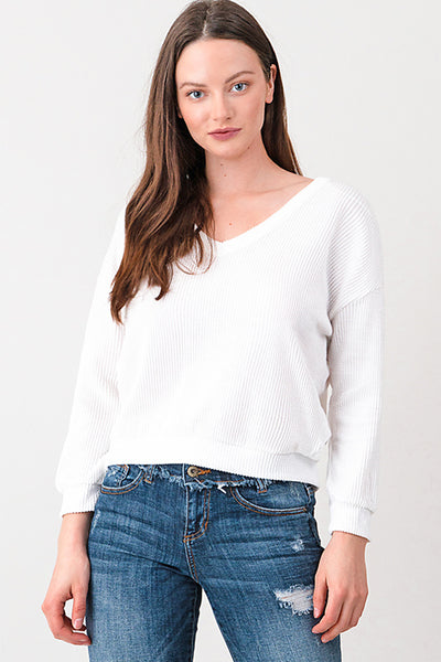 white-ribbed-long-sleeve-v-neck-laceup-c