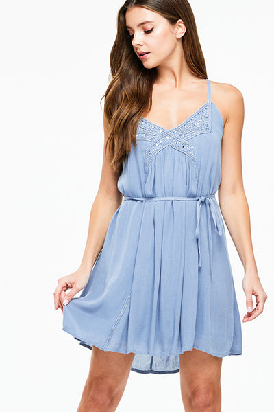 dusty-blue-sleeveless-embellished-beaded
