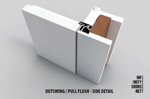 Outswing Pull Right Pre-Hung Single Door | Right hand outswing door