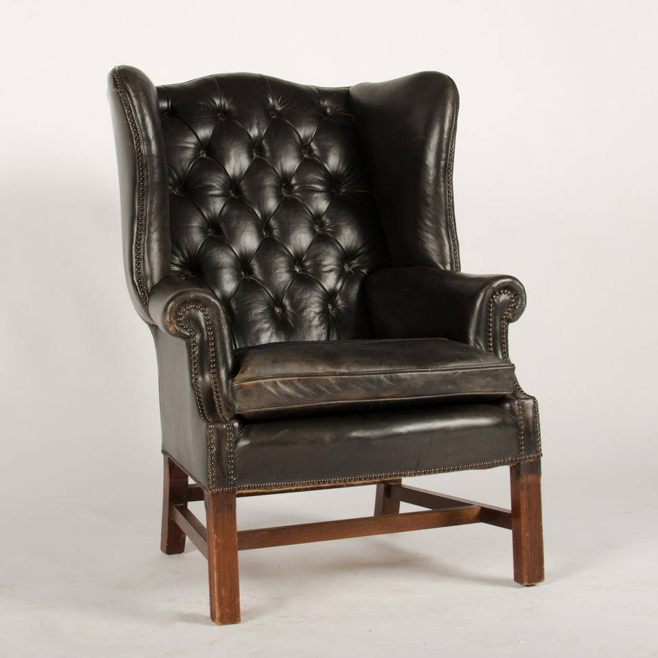 Leather High Back Club Chair