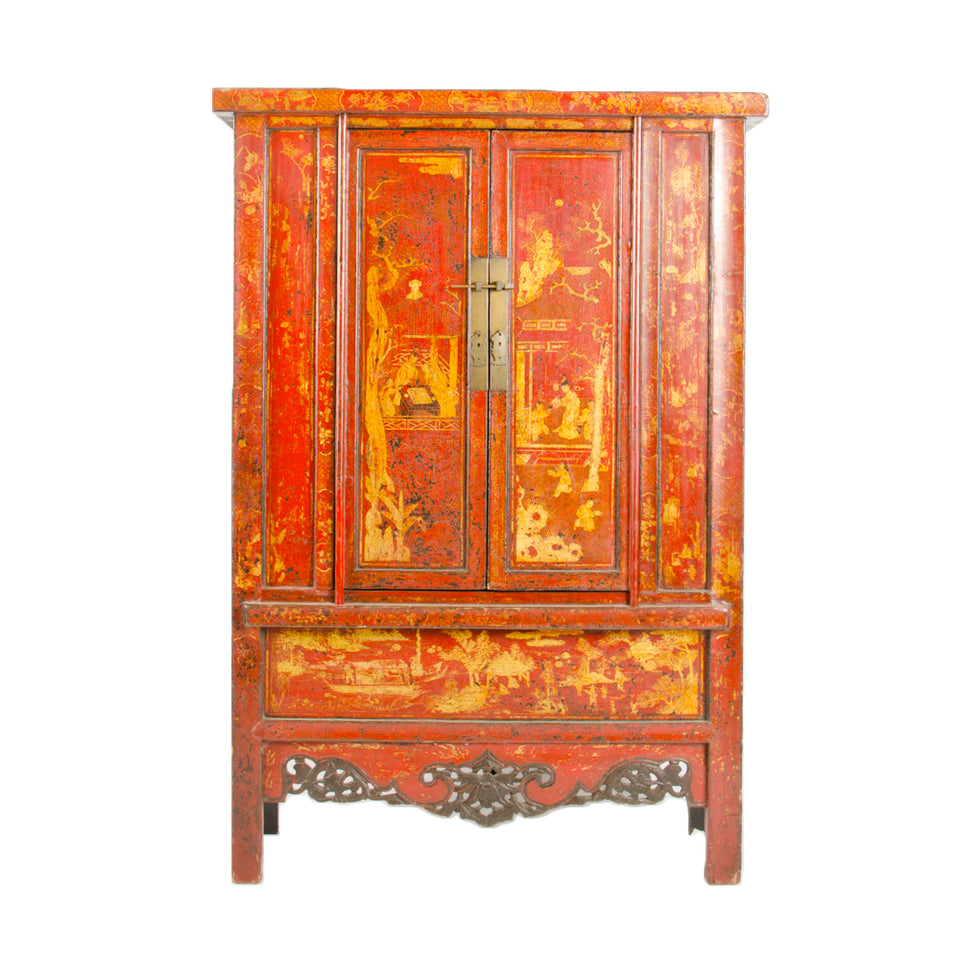Red 19th Century Decorative Cabinet