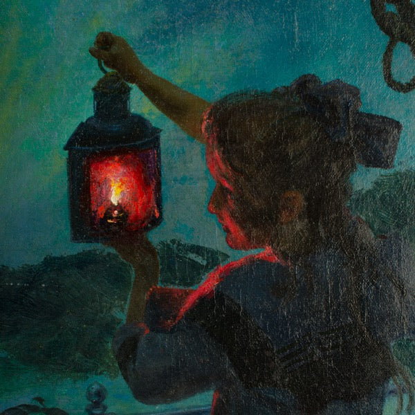 Girl with Lantern by Otto Toaspern