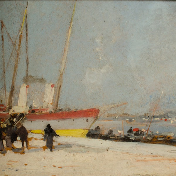 Harbor During Day by A Michel (Eugene GALIEN-LALOUE)