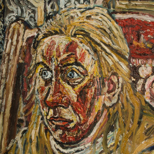 """Jean in Army Leather"" by John Randall Bratby"