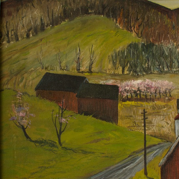 """peach orchard in the valley"" by Charles Harsanyi"