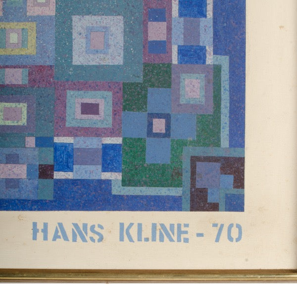 Blue Kaleidescope by Hans Kline