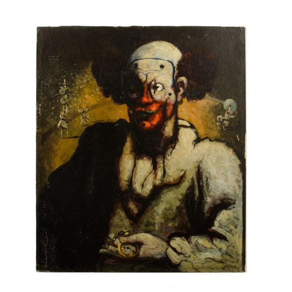 """Clown with Watch"" by John Decker"