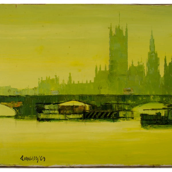 Green Sunset On The Thames xx
