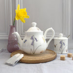 one person bone china bee and spring flowers teapot