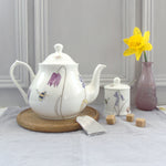 Four Cup Bone China Bee and spring flowers Teapot