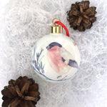 Bone China Christmas Bauble - bullfinch design