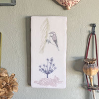 Cow Parsley Design Ceramic Tile Wall Art