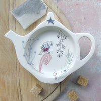 Teabag Tidy - goldfinch design