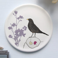 Round Coaster - blackbird design 2