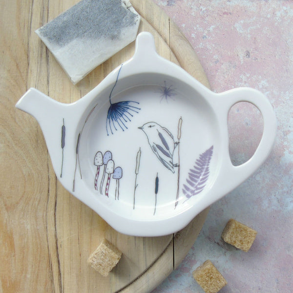 Teabag Tidy - willow warbler design