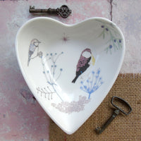 Heart Shaped Trinket Dish - Bullfinch Design.