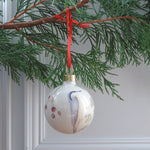 Bone China Christmas Bauble - nuthatch design